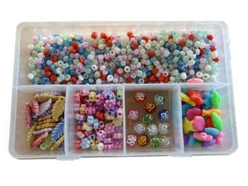 CRAFT + HOBBY BEAD SETS (E) for JEWELLERY making NECKLACES + BRACELETS DIY KITS